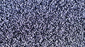 Statisch lawaai van het trillende detuned TV-scherm stock video