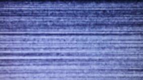 Statisch lawaai van het trillende detuned TV-scherm stock footage