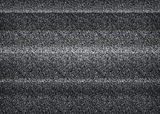 Statisch TV-lawaai, slecht TV-zwart-wit signaal, zwart-wit, royalty-vrije illustratie