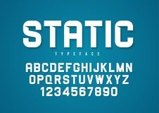 Statisch vector decoratief gewaagd doopvontontwerp, alfabet, lettersoort, t Royalty-vrije Stock Fotografie