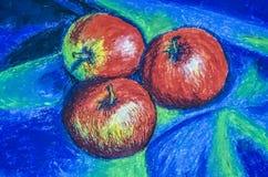 Statische aard met appelen stock foto