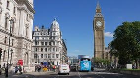 Statischer Schuss von Big Ben genommen vom Parlaments-Quadrat stock video footage