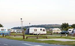 Statisk husvagnferie parkerar Royaltyfri Fotografi