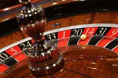 Statisk roulett i kasino arkivbild