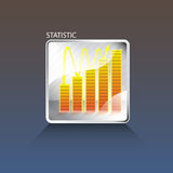 Statistic business chart Royalty Free Stock Images