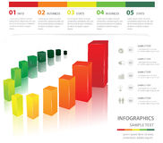 Statistic charts. Useful for infographics and presentations Royalty Free Illustration