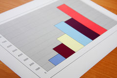 Statistic. Colorful sales chartson white background stock photo