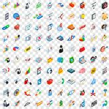 100 statistic data icons set, isometric 3d style. 100 statistic data icons set in isometric 3d style for any design vector illustration Royalty Free Illustration