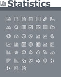 Statistic elements icon set. Set of the simple flat statistic elements icons Stock Photo