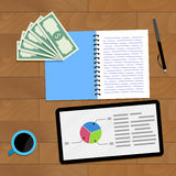 Statistic finance chart. Vector profit data finance illustration Royalty Free Stock Photo