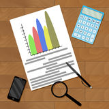 ??????????-1. Statistic financial accounting, vector economic strategy marketing illustration Royalty Free Stock Image