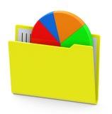 Statistic folder Stock Image