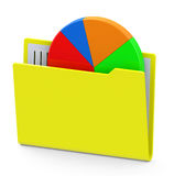 Statistic folder Stock Images