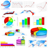 Statistic graph illustrations Stock Photo