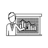 Statistic graph report Royalty Free Stock Photo