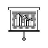 Statistic graph report Royalty Free Stock Photos