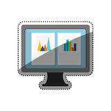 Statistic graph report Royalty Free Stock Images