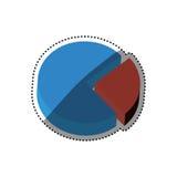 Statistic graph report. Icon  illustration graphic design Stock Image