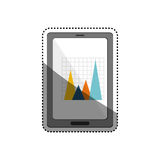Statistic graph report. Icon  illustration graphic design Royalty Free Stock Image