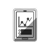 Statistic graph report. Icon  illustration graphic design Royalty Free Stock Photos