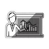 Statistic graph report. Icon  illustration graphic design Stock Photos
