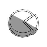 Statistic graph report. Icon  illustration graphic design Royalty Free Stock Images