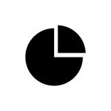 Statistic graph report. Icon  illustration graphic design Stock Photography