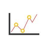 Statistic graph report. Icon  illustration graphic design Stock Photo