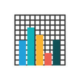 Statistic graph report. Icon  illustration graphic design Royalty Free Stock Photography