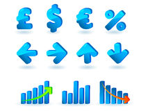 Statistic icons set Royalty Free Stock Images