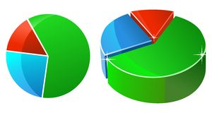 Statistic pie. Business Pie Chart Graph on a white background Stock Images