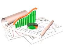 Statistic scrolls Stock Photos
