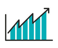 statistical growth isolated icon design Stock Images
