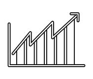 statistical growth isolated icon design Royalty Free Stock Photography