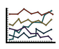 Statistical growth isolated icon design Royalty Free Stock Photo