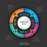 Statistical infographic elements for Business. Creative colorful statistical graph for your Business reports and financial data presentation Royalty Free Stock Image
