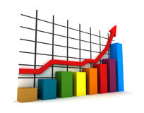 statistiche 3d Fotografia Stock Libera da Diritti