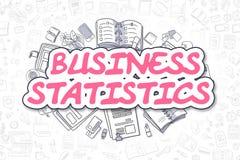 Statistiche d'impresa - testo del magenta di scarabocchio Concetto di affari Fotografia Stock Libera da Diritti