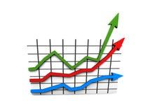 Statistiche - diagramma multicolore immagini stock