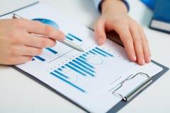 Statistiche stampate Immagini Stock