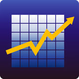 Statistics. Business statistics on blue background royalty free illustration