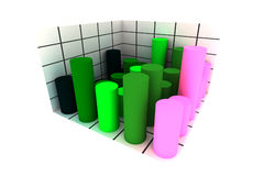 Statistics - 3d isolated diagram royalty free stock photography