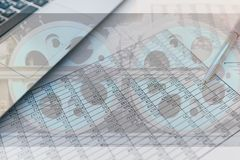 Statistics and accounting - the locomotive of the economy. stock photo