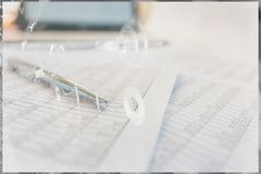 Statistics and accounting - the locomotive of the economy. stock images