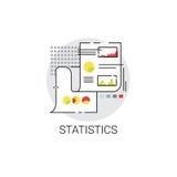 Statistics Analysis Concept Finance Diagram Data Icon. Vector Illustration Stock Photos