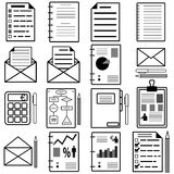 Statistics and analytics file icons. Vector Stock Image