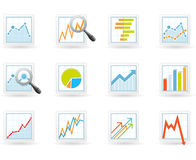 Statistics and analytics icons Stock Image