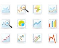 Statistics and analytics icons Stock Image