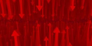 Statistics arrow resistance Royalty Free Stock Photo