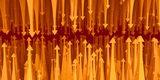 Statistics arrow resistance. Yellow analyst commerce diagram Royalty Free Stock Image